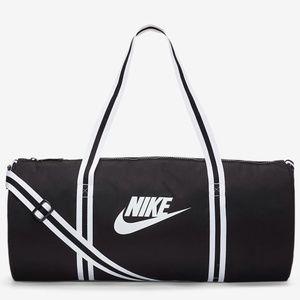 NWT NIKE Heritage Duffel Bag Black / White